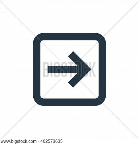 right arrow icon isolated on white background. right arrow icon thin line outline linear right arrow