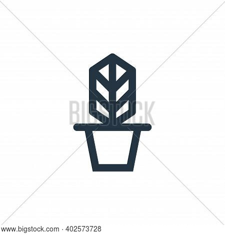 plant pot icon isolated on white background. plant pot icon thin line outline linear plant pot symbo