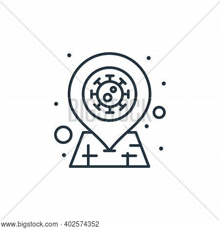 Infection icon isolated on white background. Infection icon thin line outline linear Infection symbo
