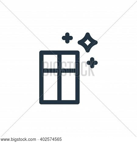 window icon isolated on white background. window icon thin line outline linear window symbol for log