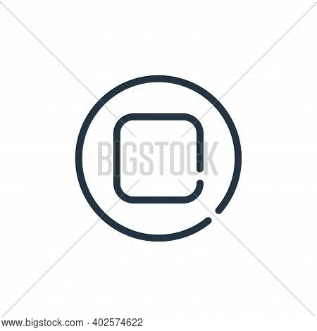 stop icon isolated on white background. stop icon thin line outline linear stop symbol for logo, web