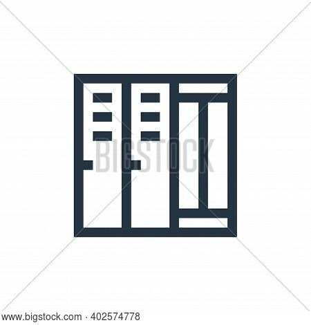 lockers icon isolated on white background. lockers icon thin line outline linear lockers symbol for