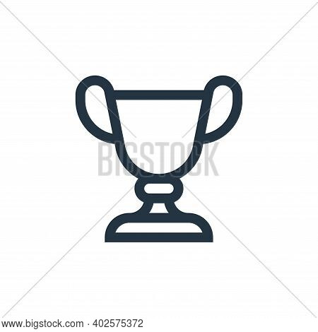 trophy icon isolated on white background. trophy icon thin line outline linear trophy symbol for log