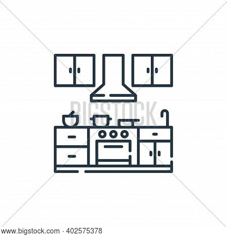 kitchen icon isolated on white background. kitchen icon thin line outline linear kitchen symbol for