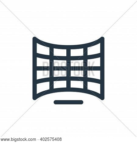 curve view icon isolated on white background. curve view icon thin line outline linear curve view sy