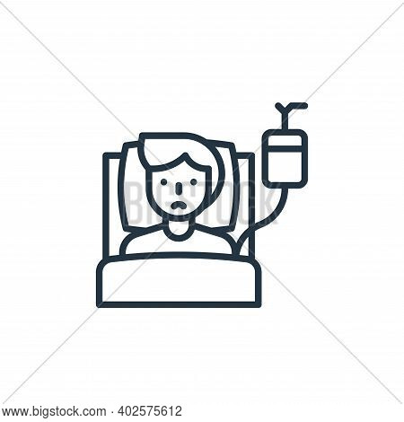 patient icon isolated on white background. patient icon thin line outline linear patient symbol for