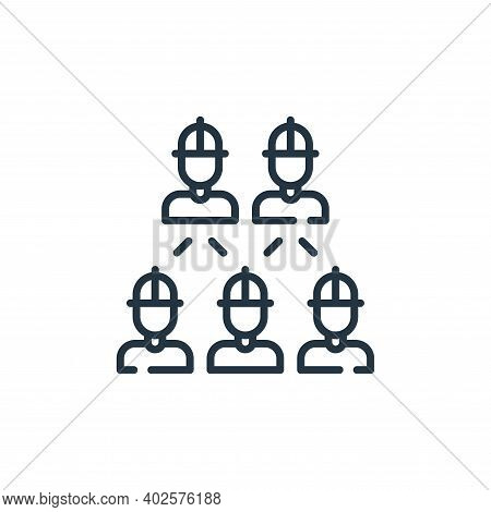 workers icon isolated on white background. workers icon thin line outline linear workers symbol for