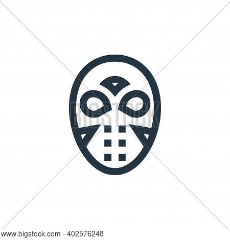 hockey mask icon isolated on white background. hockey mask icon thin line outline linear hockey mask