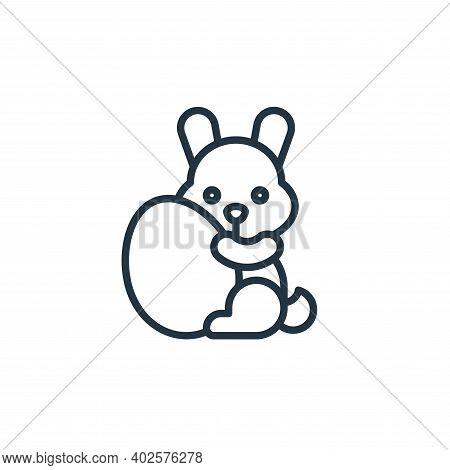 easter bunny icon isolated on white background. easter bunny icon thin line outline linear easter bu