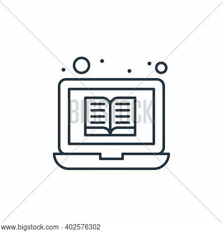 online library icon isolated on white background. online library icon thin line outline linear onlin