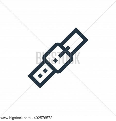 belt icon isolated on white background. belt icon thin line outline linear belt symbol for logo, web