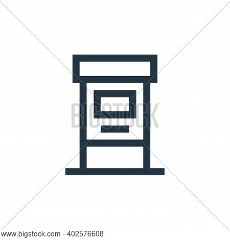 atm machine icon isolated on white background. atm machine icon thin line outline linear atm machine