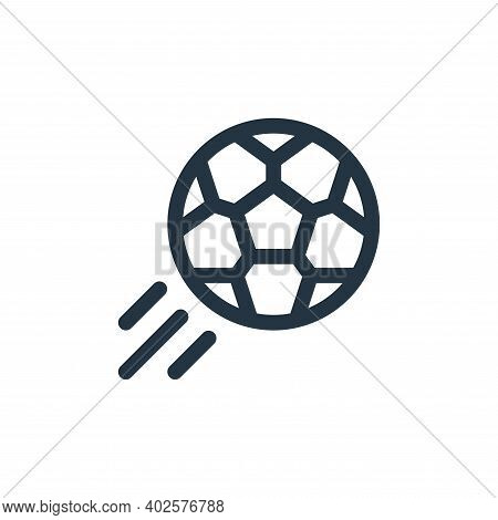 football icon isolated on white background. football icon thin line outline linear football symbol f