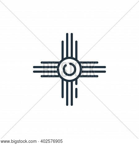 native american icon isolated on white background. native american icon thin line outline linear nat