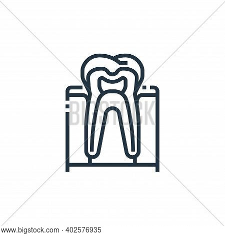 tooth icon isolated on white background. tooth icon thin line outline linear tooth symbol for logo,