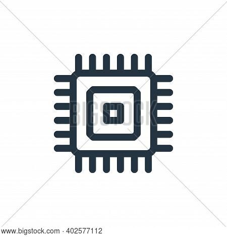 cpu icon isolated on white background. cpu icon thin line outline linear cpu symbol for logo, web, a
