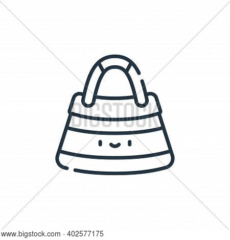 beach bag icon isolated on white background. beach bag icon thin line outline linear beach bag symbo