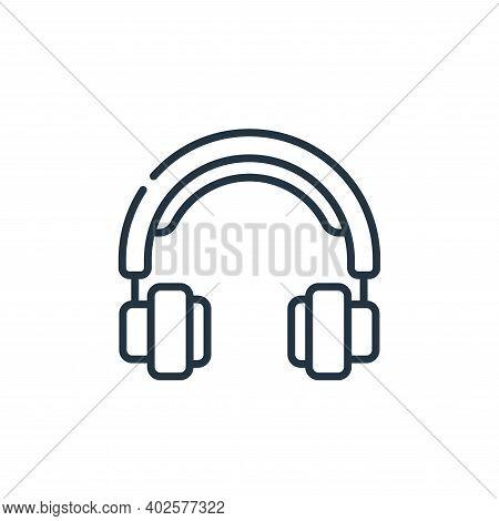 headphone icon isolated on white background. headphone icon thin line outline linear headphone symbo