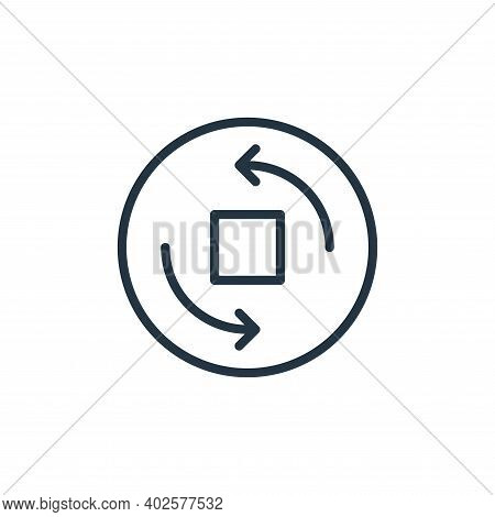 rotate camera icon isolated on white background. rotate camera icon thin line outline linear rotate