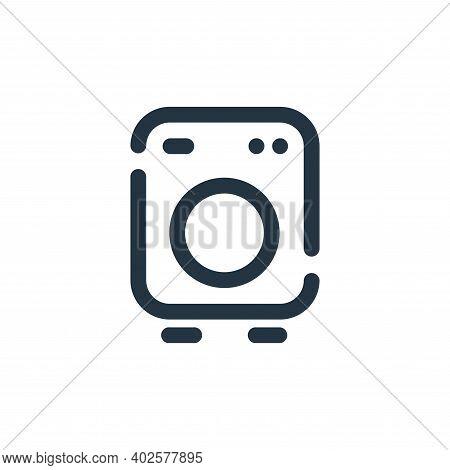washing machine icon isolated on white background. washing machine icon thin line outline linear was