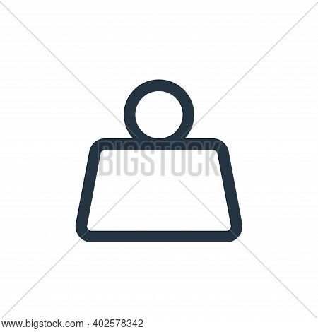 weight icon isolated on white background. weight icon thin line outline linear weight symbol for log