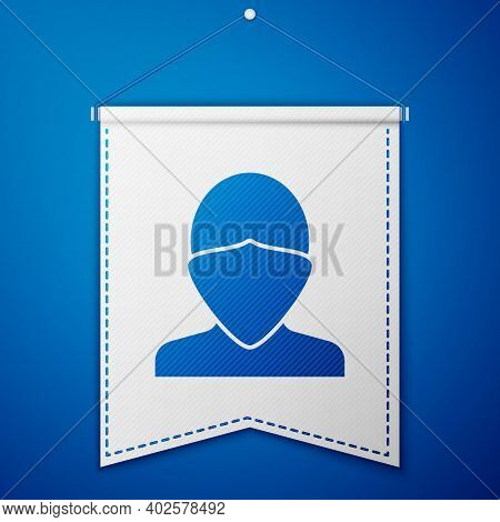 Blue Vandal Icon Isolated On Blue Background. White Pennant Template. Vector