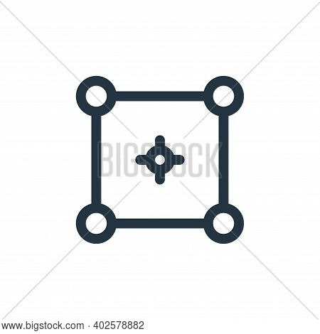 selector icon isolated on white background. selector icon thin line outline linear selector symbol f