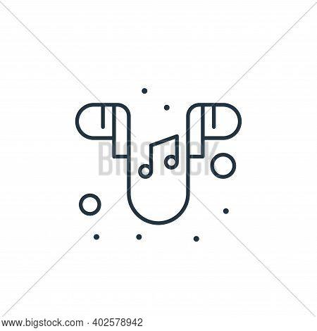 earphones icon isolated on white background. earphones icon thin line outline linear earphones symbo