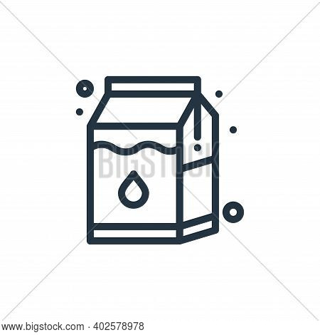 milk box icon isolated on white background. milk box icon thin line outline linear milk box symbol f