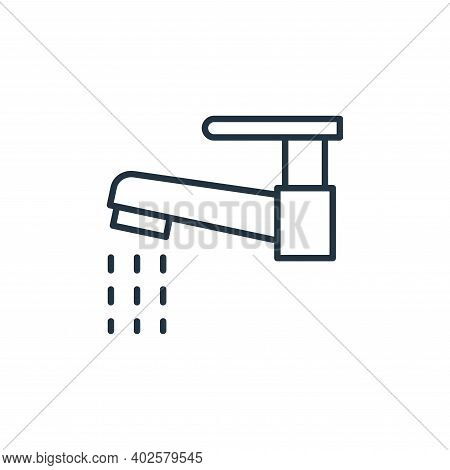 water tap icon isolated on white background. water tap icon thin line outline linear water tap symbo