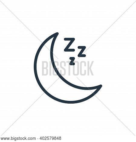 sleeping icon isolated on white background. sleeping icon thin line outline linear sleeping symbol f