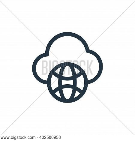 cloud icon isolated on white background. cloud icon thin line outline linear cloud symbol for logo,