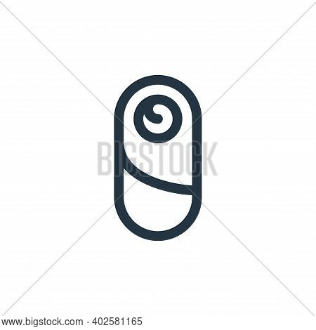 baby icon isolated on white background. baby icon thin line outline linear baby symbol for logo, web