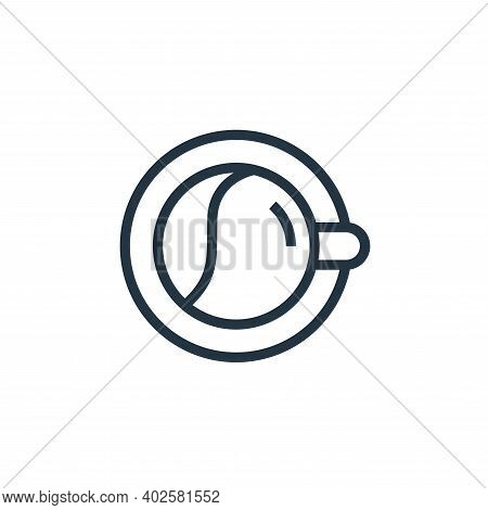 coffee cup icon isolated on white background. coffee cup icon thin line outline linear coffee cup sy