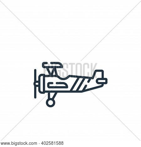 airplane icon isolated on white background. airplane icon thin line outline linear airplane symbol f