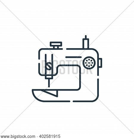 sewing machine icon isolated on white background. sewing machine icon thin line outline linear sewin