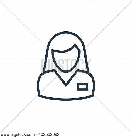 teacher icon isolated on white background. teacher icon thin line outline linear teacher symbol for