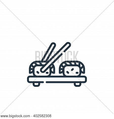 sushi icon isolated on white background. sushi icon thin line outline linear sushi symbol for logo,