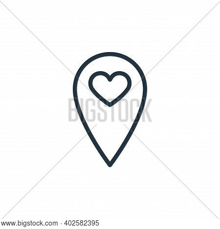location icon isolated on white background. location icon thin line outline linear location symbol f