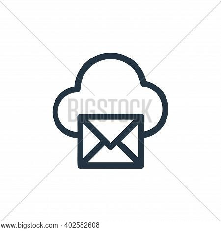 email icon isolated on white background. email icon thin line outline linear email symbol for logo,