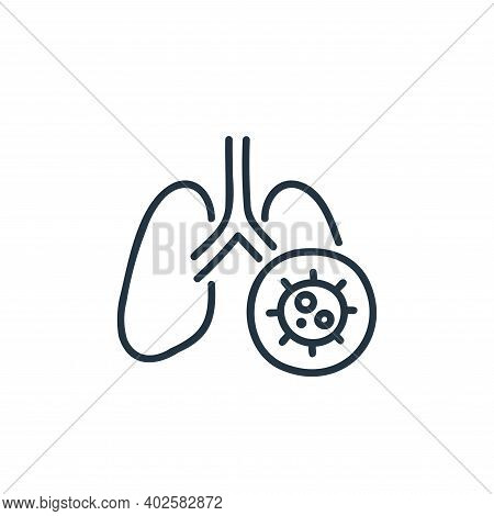 lung icon isolated on white background. lung icon thin line outline linear lung symbol for logo, web
