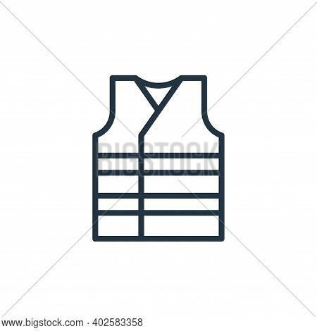 vest icon isolated on white background. vest icon thin line outline linear vest symbol for logo, web