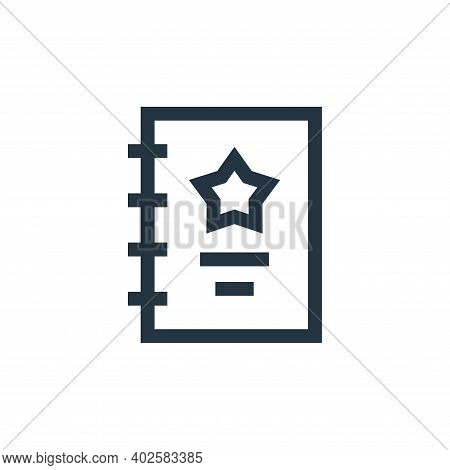 script icon isolated on white background. script icon thin line outline linear script symbol for log