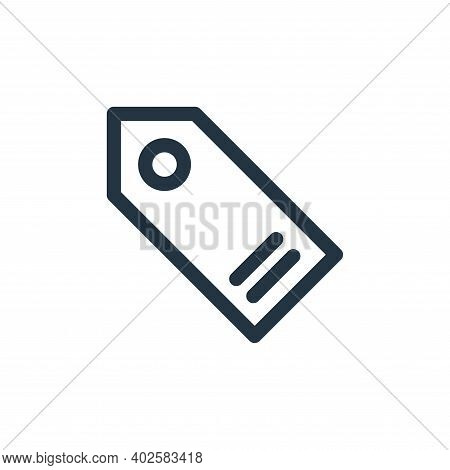 price tag icon isolated on white background. price tag icon thin line outline linear price tag symbo