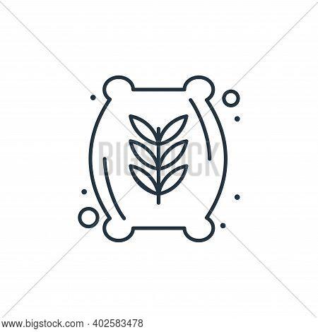 wheat flour icon isolated on white background. wheat flour icon thin line outline linear wheat flour