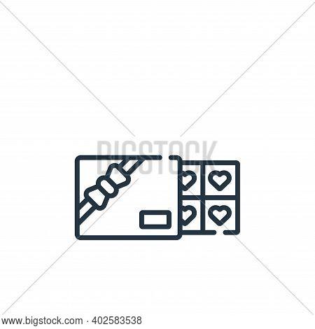 chocolate box icon isolated on white background. chocolate box icon thin line outline linear chocola