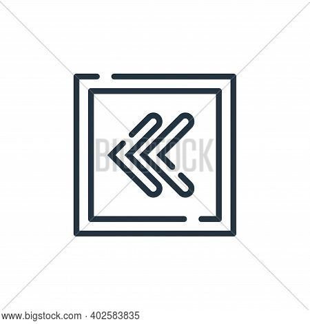 back icon isolated on white background. back icon thin line outline linear back symbol for logo, web