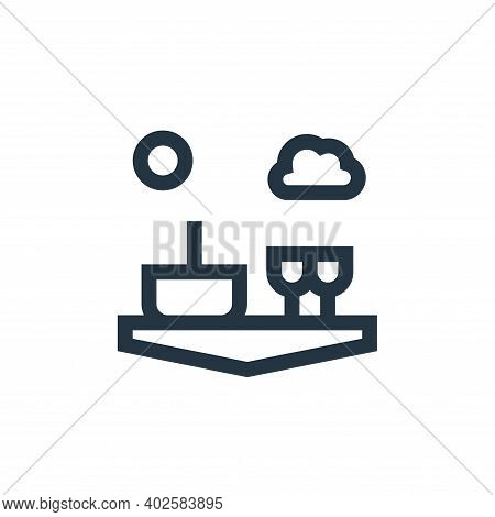 picnic icon isolated on white background. picnic icon thin line outline linear picnic symbol for log