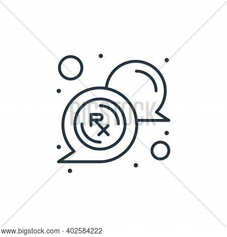 rx icon isolated on white background. rx icon thin line outline linear rx symbol for logo, web, app,