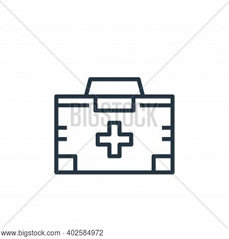 first aid kit icon isolated on white background. first aid kit icon thin line outline linear first a
